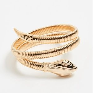 Gas Bijoux Gold Serpent Bracelet — NWOT — 1 size